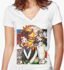 Media Vuelta Women's Fitted V-Neck T-Shirt