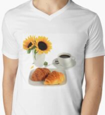 Breakfast – Croissants and Coffee. T-Shirt