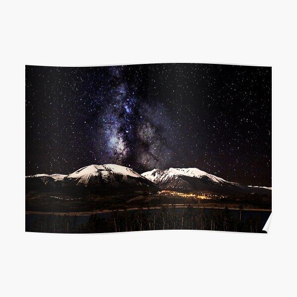 Buffalo Milky Way Poster