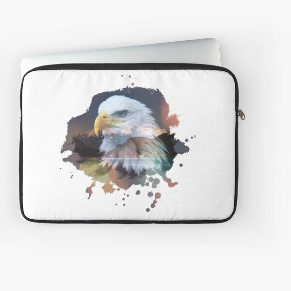 Eagle Double exposure Mountain Scene Laptop Sleeve