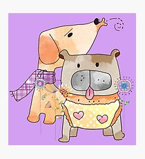 Cartoon Pets  Puppy Friends Photographic Print