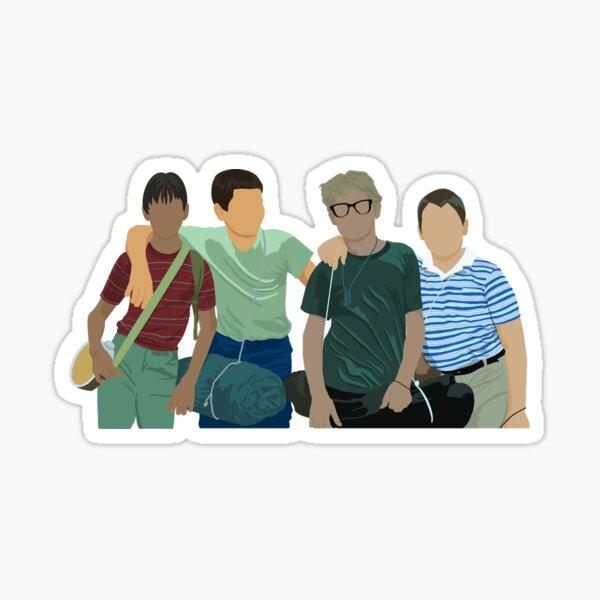 Gordie, Chris, Teddy, & Vern Sticker