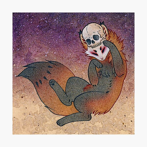 The Mischief Maker - Kitsune Yokai TeaKitsune Photographic Print