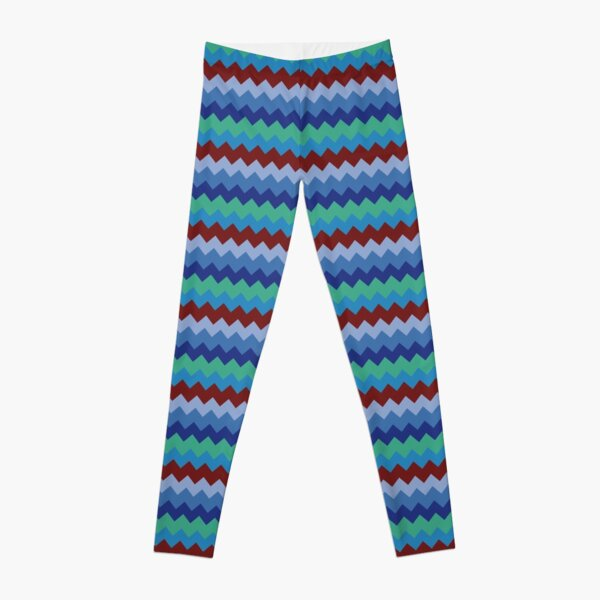 Modern zig zag chevron pattern  Leggings