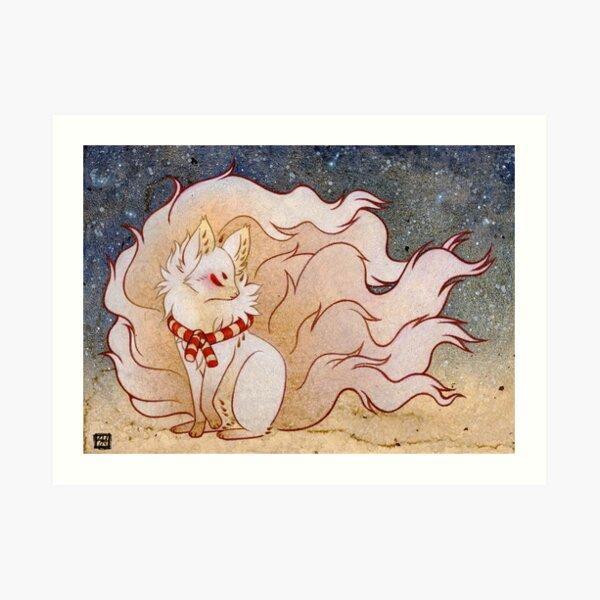 El espíritu celestial - Kitsune Yokai TeaKitsune Lámina artística