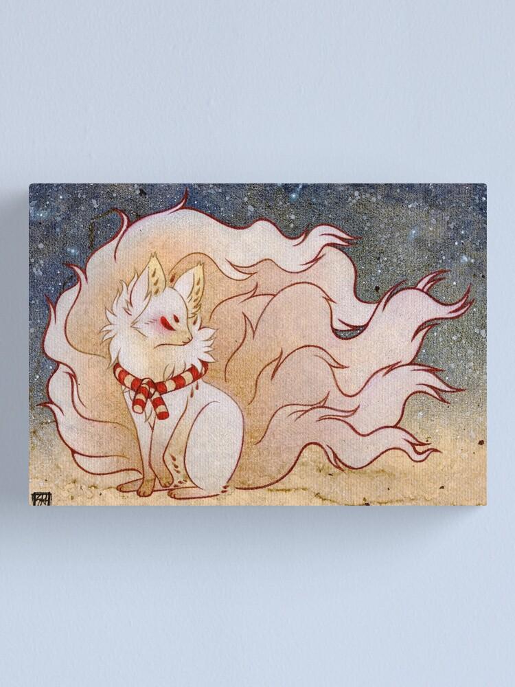 Alternate view of The Celestial Spirit - Kitsune Yokai TeaKitsune Canvas Print