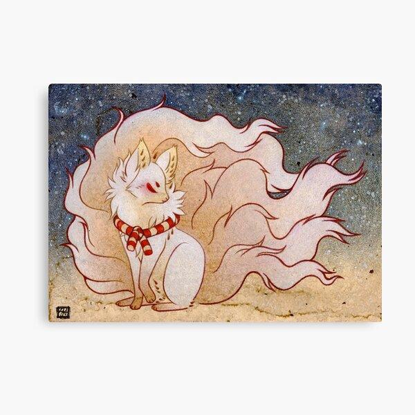 The Celestial Spirit - Kitsune Yokai TeaKitsune Canvas Print