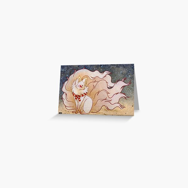The Celestial Spirit - Kitsune Yokai TeaKitsune Greeting Card