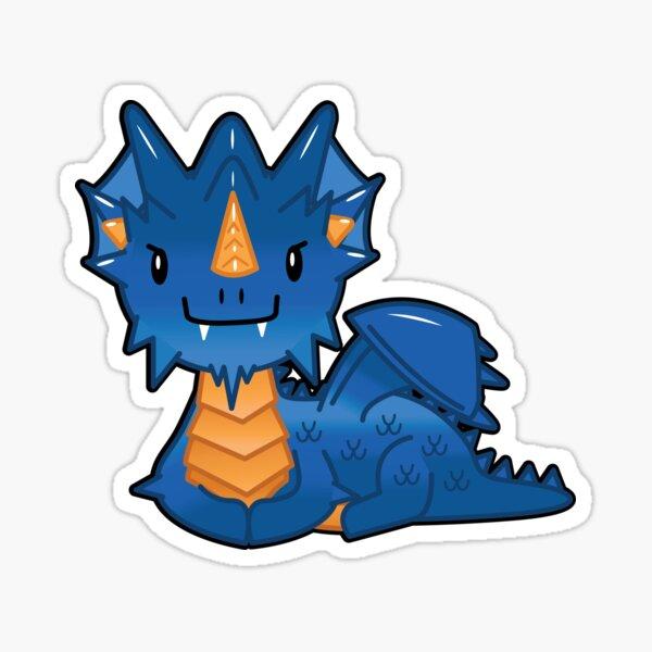 Adorable Blue Dragon Sticker