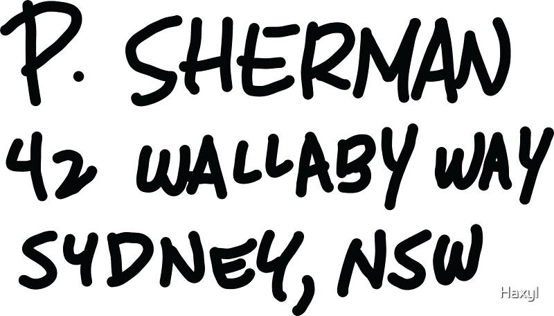 u0026quot p  sherman 42 wallaby way sydney u0026quot  stickers by haxyl