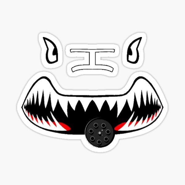 A10 Warthog nose cartoon Sticker