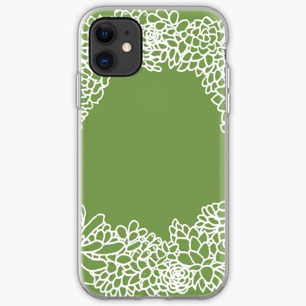 Succulent Wreath iPhone Soft Case