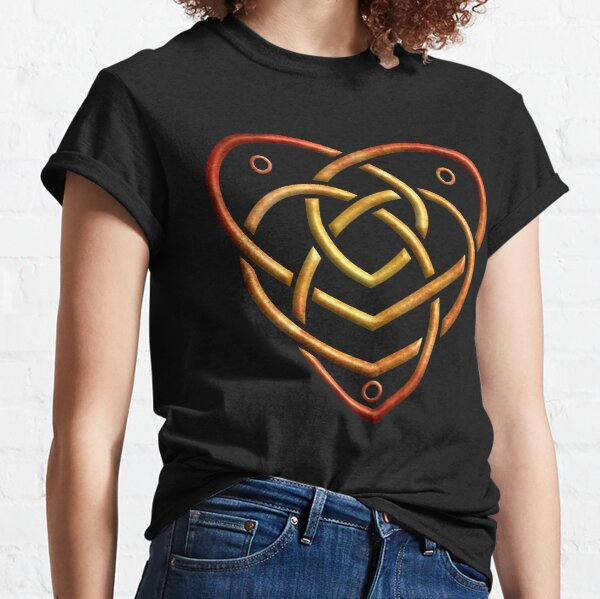 The Celtic Motherhood Knot Red Gold Classic T-Shirt