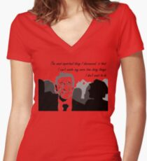 The Great Beauty - Italian Film Women's Fitted V-Neck T-Shirt