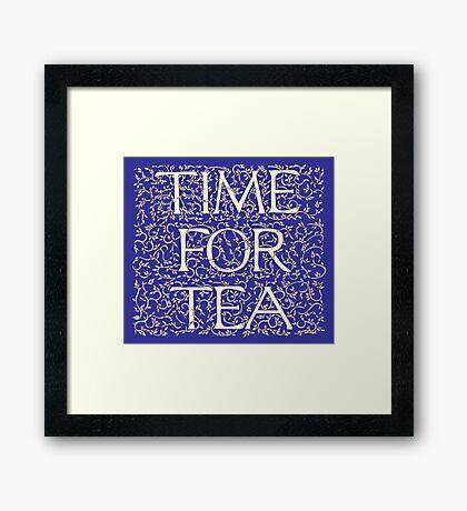 Time For Tea (Royal Blue) Framed Print