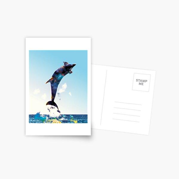 Nackter Mann auf Delfin
