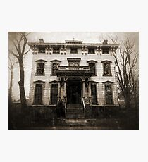 Spooky Mansion Photographic Print