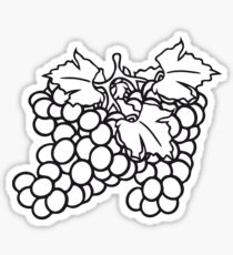 grape harvest drawing gifts merchandise redbubble Parts of a Grape many grape grapes harvest tasty wine sticker