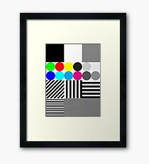 Extreme tone test pattern with colour Framed Print
