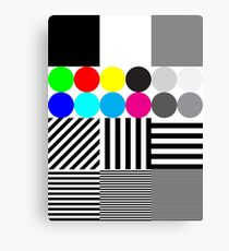 Extreme tone test pattern with colour Canvas Print