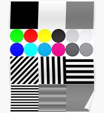 Extreme tone test pattern with colour Poster