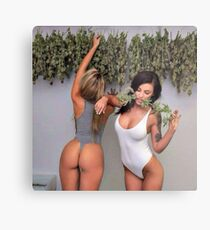 Cannabis Girls Metal Print