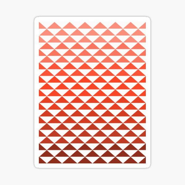 Nez Perce Tribe Orange Triangles Sticker