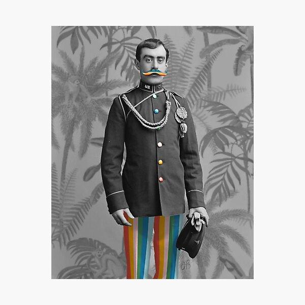 I Mustache You Photographic Print