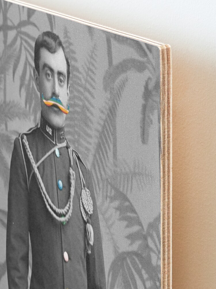 Alternate view of I Mustache You Mounted Print