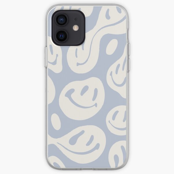 liquid smiley cool blue iPhone Soft Case