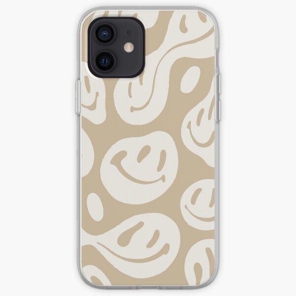 liquid smiley beige iPhone Soft Case