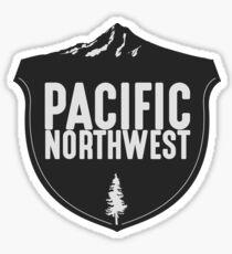 Pacific Northwest Mountain Badge Sticker