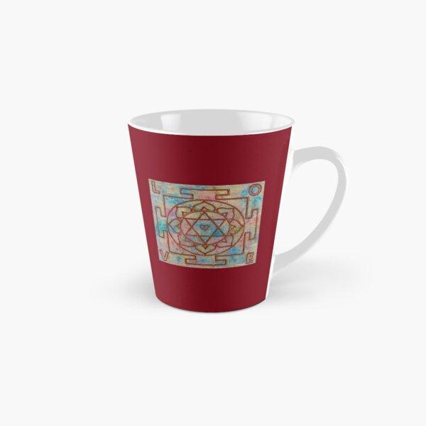 LOVE MANDALA (Yantra with Letters) - Yoga Art Design - scroll down Tall Mug
