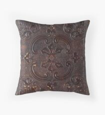 Ancient Leather Book Throw Pillow