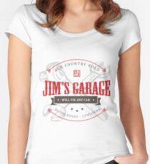 Jim's Garage Women's Fitted Scoop T-Shirt