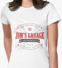 Jim's Garage Women's Fitted T-Shirt