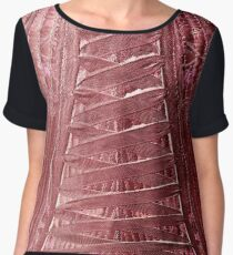 Laced Up Tight Women's Chiffon Top