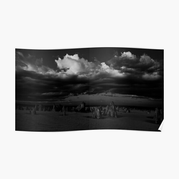 Stormy Skies Over The Pinnacles Poster