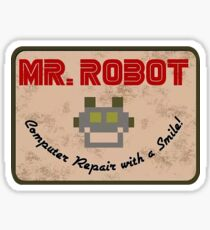 Mr Robot Logo Design Sticker
