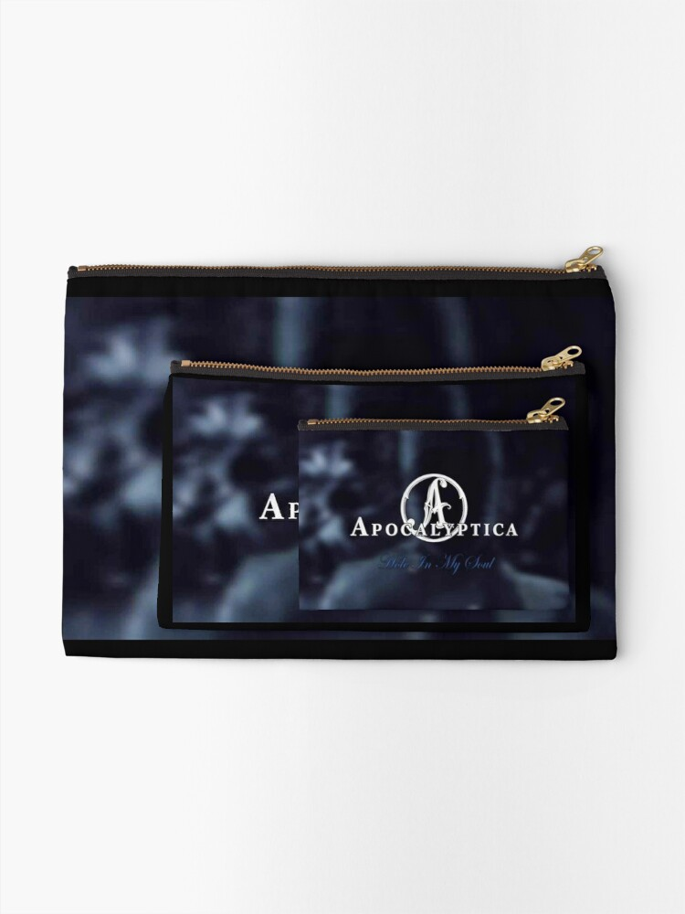 Alternate view of apocalyptica's 11 The band most legendary trio popular music rock metal Zipper Pouch