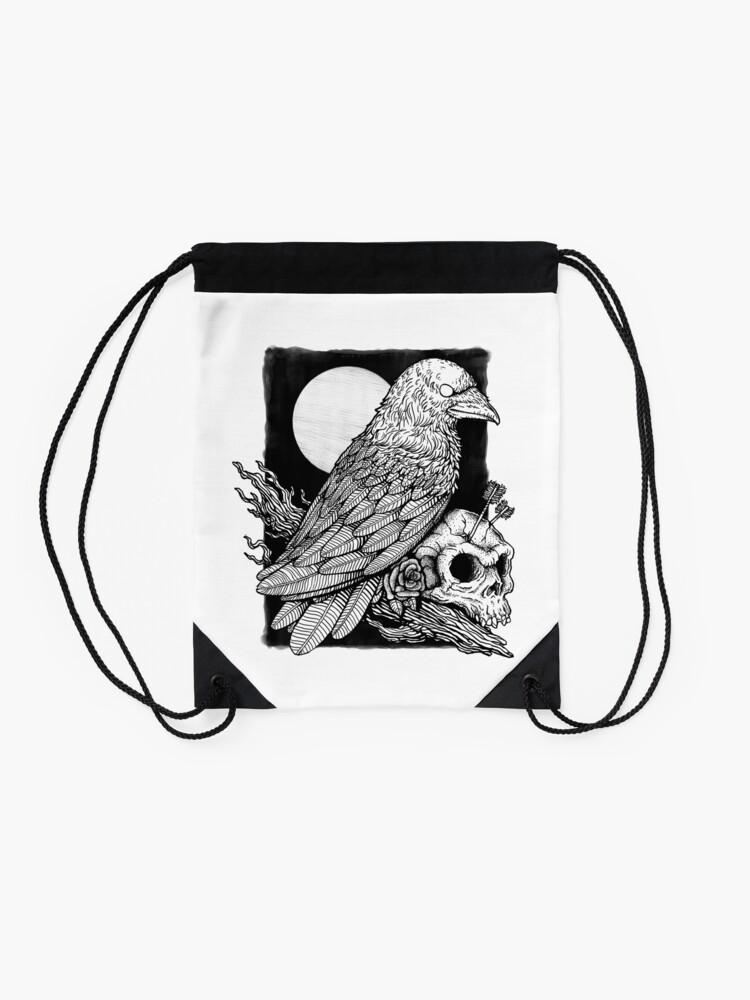 Alternate view of Crow Drawstring Bag