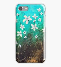 Beautiful White Flowers Abstract Art iPhone Case/Skin