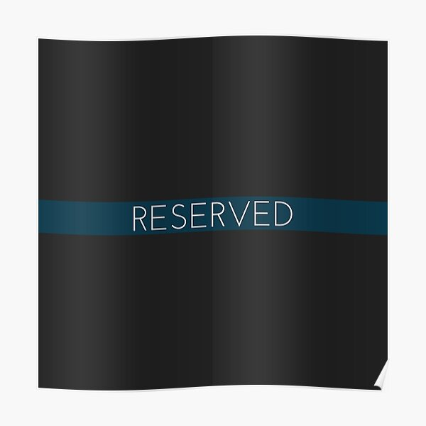 Reserved person Poster