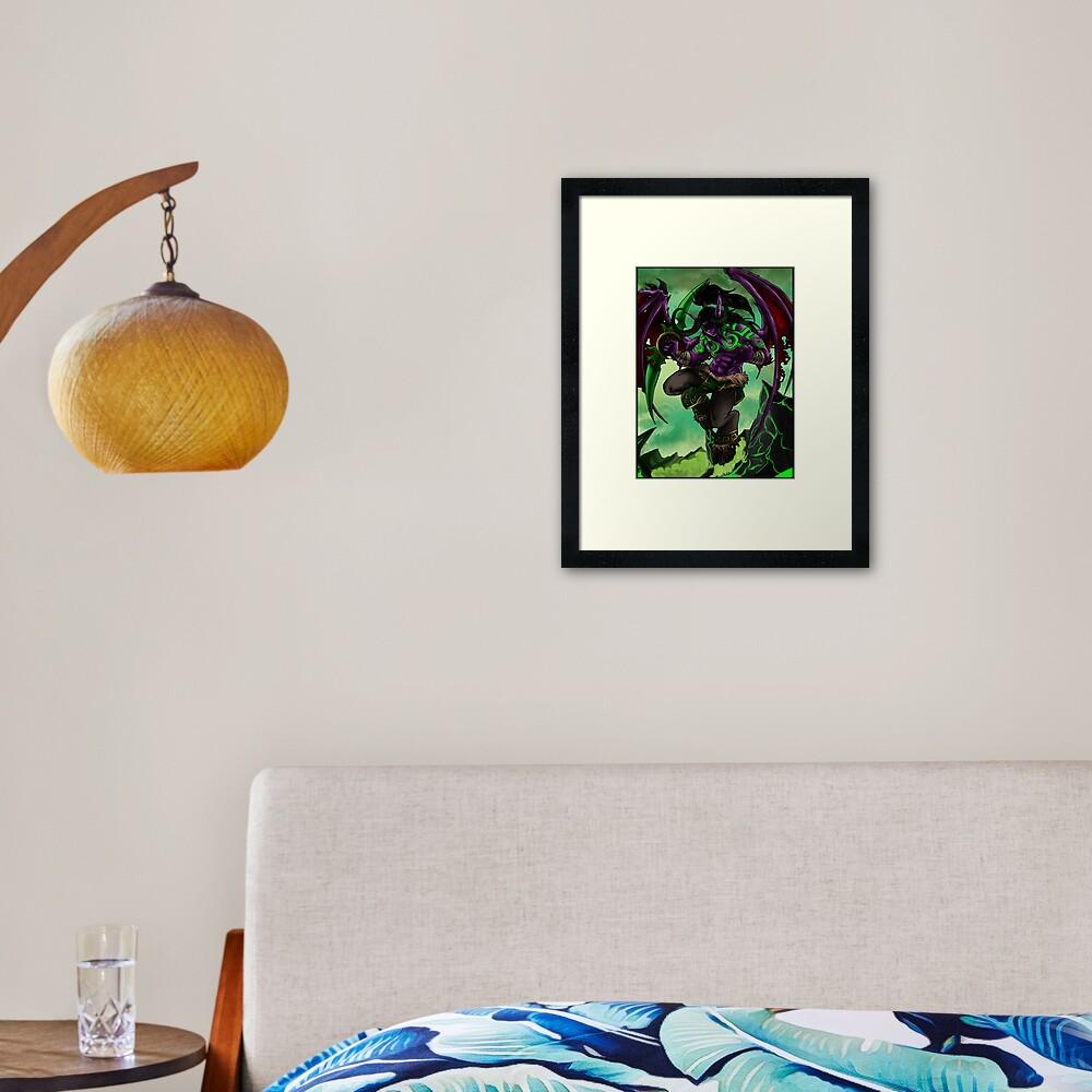 Illidan Framed Art Print