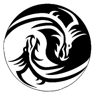 Yin & Yang dragons, white no. 2 by cool-shirts