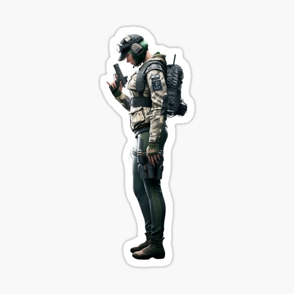Ela Rainbow Six (Image 01) Sticker