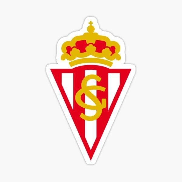 sporting de gijon futbol flag coat of arms Sticker