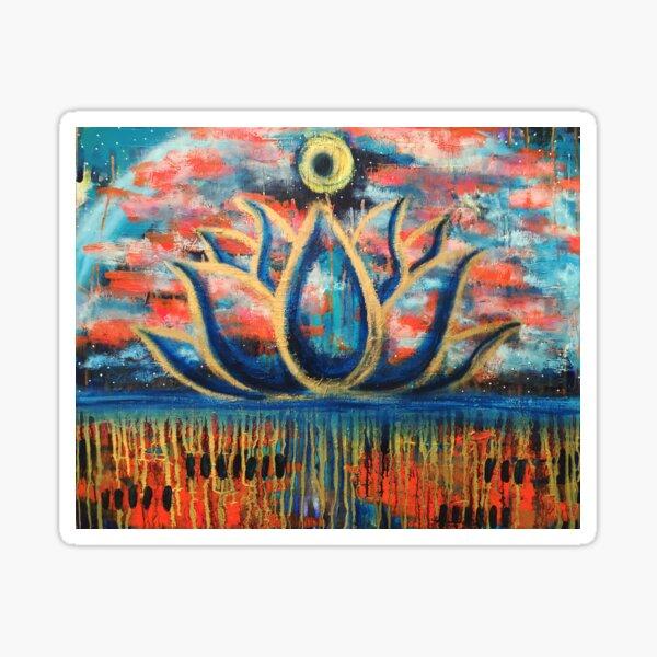 Centered Unfolding: Inner Power Painting Sticker