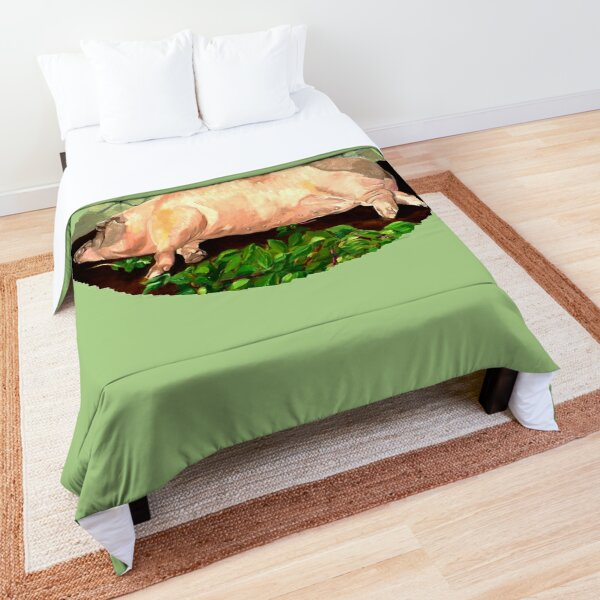 A Beautiful Pig Comforter