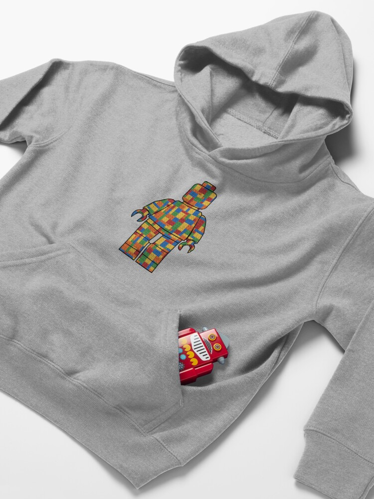 Alternate view of LegoLove Building Blocks Kids Pullover Hoodie